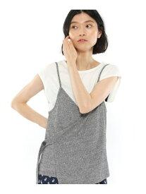 【SALE/48%OFF】(W)ニットキャミレイヤードTシャツ LAKOLE ラコレ ニット アンサンブル グレー ベージュ グリーン【RBA_E】[Rakuten Fashion]