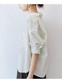 【SALE/48%OFF】(W)リネンMIX2ポケットSH LAKOLE ラコレ シャツ/ブラウス 長袖シャツ ホワイト パープル ブラウン ブルー ベージュ【RBA_E】[Rakuten Fashion]