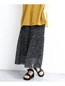 【SALE/44%OFF】(W)PEニュアンスドットPLSK LAKOLE ラコレ スカート プリーツスカート/ギャザースカート ブラック ブラウン ベージュ【RBA_E】[Rakuten Fashion]