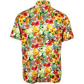 フォーエバー21 FOREVER 21 メンズ カジュアルシャツ アロハシャツ ハワイアン 半袖 花 フルーツ 柄 ファッション トップス