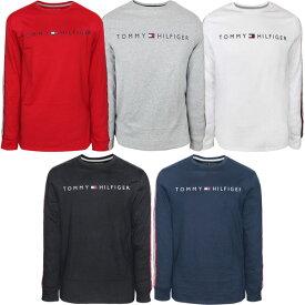 トミーヒルフィガー Tommy Hilfiger メンズ クルーネック ロングスリーブ Tシャツ ロンT ロゴ フラッグ 長袖 アメカジ ファッション トップス