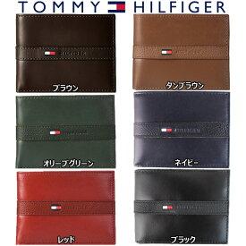 トミーヒルフィガー Tommy Hilfiger 二つ折り 財布 メンズ レザー ウォレット パスケース付 小物 アクセサリー