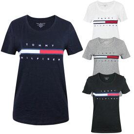 トミーヒルフィガー Tommy Hilfiger レディース Uネック Tシャツ ロゴ フラッグ 半袖 アメカジ ファッション 女性用 トップス