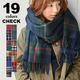 Check large stole scarf soft texture and volume. A presence stand out in the oversized check. ☆ large check scarf snood autumn-winter men's women's unisex