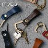 MOCA (摩卡)-主要烛台钥匙持有人黄铜 * 简单展示皮革魅力和功能钥匙串。 皮具皮革配件钥匙圈配件黄铜不锈钢男士女士礼品