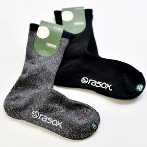 rasox(ラソックス)ベーシックドラロンソックス靴下スニーカーソックスズレにくさと、フィット感、理想の履き心地ミディアム丈ミドルソックスメンズレディース