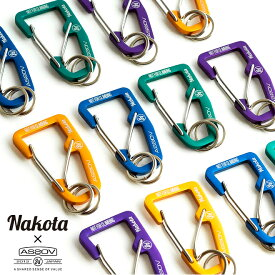 nakota×AS2OV ナコタ アッソブ DOUBLE FOOK CARABINER ダブルフックカラビナ キーホルダー キーリング 鍵 リング付き メンズ レディース おしゃれ ゴールド ネイビー グリーン パープル コラボ プレゼント ギフト