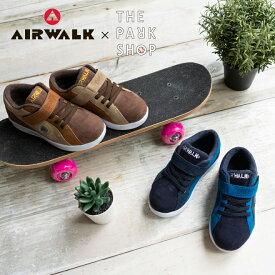 AIRWALK×THE PARK SHOP エアウォーク ザパークショップ ONE スニーカー 靴 キッズ ジュニア 子供用 男の子 女の子 メンズ レディース ユニセックス ネイビー ブラウン コラボ