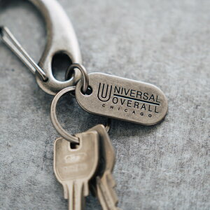 UNIVERSALOVERALLユニバーサルオーバーオールオリジナルカラビナキーリングAキーホルダー鍵小物リング付きメンズレディースシンプルおしゃれプレゼントギフト