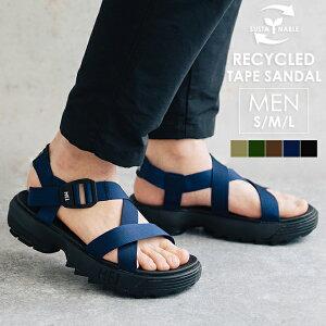 MEI メイ エムイーアイ Recycled tape sandal MENS サンダル スポーツサンダル スポサン ストラップサンダル 靴 シャークソール 厚底 メンズ 男性 アウトドア 夏 サスティナブル リサイクルナイロン