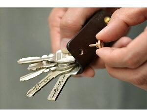【レビューで送料無料☆】moca(モカ)レザーキーケース全長7cmのキーケース。大切な鍵はスタイリッシュに収納・携帯☆キーホルダー革プレゼント日本製