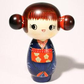 【再入荷】こけし ごきげん c273こけし 創作こけし 日本の伝統 人形 日本製 手作り インテリア お土産 kokeshi