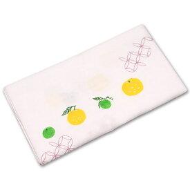 ガーゼ手ぬぐい ゆず てぬぐい 手拭い 和柄 日本製 プレゼント 【メール便対応商品】