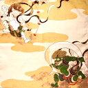 チーフ隅田川風神雷神【メール便対応商品】包む ふろしき 飾る インテリア タペストリー 風神雷神 高山寺 和風 プレゼ…