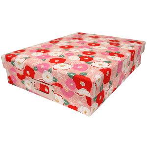 書類ボックス 「花柄 ピンク」小物入れ A4サイズ ネームプレート付き 書類箱 布箱 文庫箱 貼箱 お道具箱 お裁縫箱 収納ボックス カルトナージュ 整理 おしゃれ 京都 和雑貨 和風 日本製 プレ