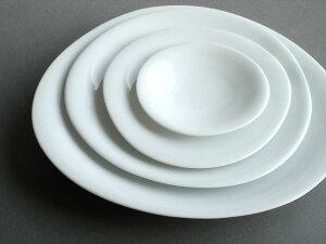 【BLANC】プレート 白磁 磁器 陶器 日本製 お皿 大皿 31cm