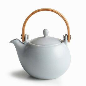 【SALIU】結 YUI 土瓶 急須 灰 グレー グレイ マット 陶器 磁器 白磁 丸い かわいい 可愛い 美濃焼 急須 日本製 深山 miyama