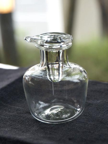 【Puti】プチボトル ミニ醤油挿し 30ml クリア/しょうゆさし/クリーマー/ガラス製