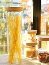 【MUSHROOM】 マッシュルーム キャニスター パスタ 保存容器 耐熱ガラス製 木蓋 きゃにすたー canister