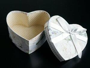 【GIFT BOX】ギフトボックス ハート リボン ローズ 小物入れ 化粧箱 ラッピング用品 魅せる収納 ペーパーBOX