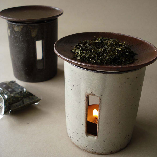 【SHIKIKA】茶香炉/粉引き/さび/アロマポット/陶器/直火/蝋燭/日本製/LOLO/ロロ