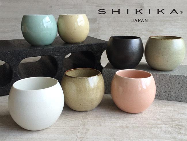 【SHIKIKA】 ころころ 大 焼酎カップ/煎茶カップ/コップ/湯のみ/コロコロカップ/陶器製/日本製 270ml
