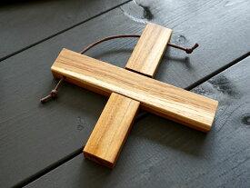 【SALIU TEAK】鍋敷き S なべしき 小 クロス チーク材 タイ 木製 サスティナブル
