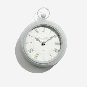 【LONDON CLOCK】HARRIET GREY ロンドンクロック ハリエット グレー 掛時計 ロンドン イギリス 英国 時計 リビング グレイ 懐中時計風 マリン