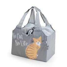 【Abeille】Shopping Basket Bag グレー チャトラ /猫/青/灰/ねこ/エコバッグ/ショッピングバッグ/買い物バッグ/キャット/cat/猫好き/