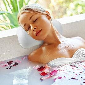 お風呂 まくら バスピロー 浴槽 リラックス 安眠 バスタブ 吸盤 滑り止め付 お風呂グッズ