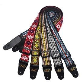 ギター ストラップ 刺繍 ギター アコギ エレキギター ベース ストラップ レトロスタイル 民族風 ベルト 肩掛けベルト