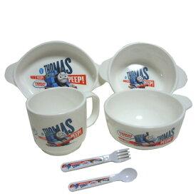 きかんしゃトーマス 5点セット 子供用食器 プラ製品 お茶碗 コップ 男の子向き THOMAS 食器セット お買い得 きかんしゃ トーマス とーます