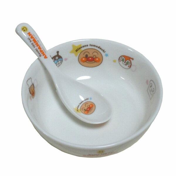 アンパンマン ラーメンセット 子供用食器 ラーメン どんぶり レンゲ付 ラーメン鉢 子供用 陶器セット どんぶり鉢