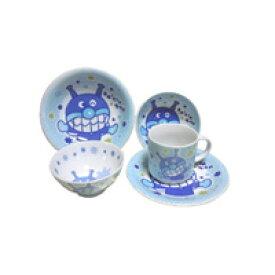 デラックス アンパンマン 食器セット ばいきんまん 5点セット 茶碗 マグカップ ケーキ皿 大皿 こばち 子供用食器 セット 陶器 ギフト