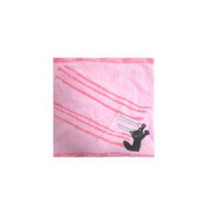 ねこ みにたおる ピンク色 ネコ ミニタオル くろねこ