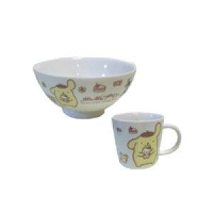 ポムポムプリン 食器セット プリン お茶碗 マグカップ 食器 ホワイト色 ギフト Pom Pom Purin 茶碗