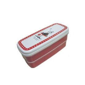 ムーミン 弁当箱 ミィ 2段弁当箱 ランチグッズ ミー レッド色 弁当箱 オフィス ランチタイム 遠足 ピクニック