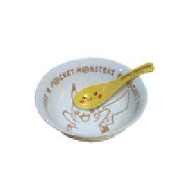 ピカチュー 食器 ラーメン鉢 どんぶり鉢 レンゲ付 キャラクター ポケットモンスター 食器セット イエロー色 ぴかちゅー セット