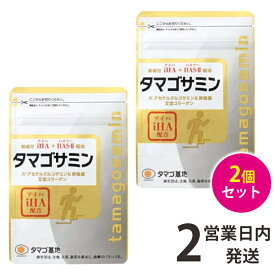 タマゴサミン 2袋(90粒×2) アイハ 軟骨 タマゴ基地 グルコサミン 送料無料 【ゆうパケット2】 軽8