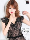 【最大¥4,00OFF!!】グロッシー ドレス ローブドフルール 高級感 モデル 桜咲乃愛 ROBEdeFLEURS Glossy レースアッ…
