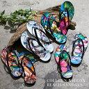 【公式】Colleen Wilcox ビーチサンダル ビーチサンダル レディース 花柄 サンダル ビーサン Mサイズ ハワイ ビーチ …