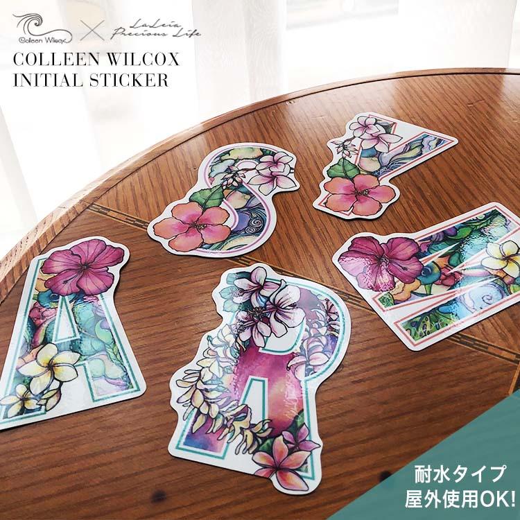 Colleen Wilcoxイニシャルステッカー【耐水・屋外使用OK】イニシャル アルファベット ギフト プレゼント