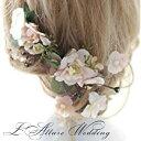 二次会 パーティー ウェデイングアクセサリー ブライダル 結婚式 ヘッドドレス ティアラ 舞台/写真/コーラス/演出 成人式 高級造花ヘ…