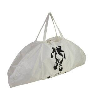 バレエ 肩掛けできるレッスンバッグ チュチュ バッグ バレエ用品 衣装用バッグ 衣装袋 チュチュキャリー ホワイト