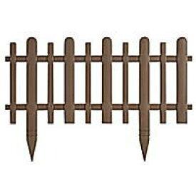 リッチェル ガーデンフェンスかきね60H型ブラウン2枚入厚みがあるので丈夫ポリプロピレン垣根風フェンス