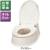 アロン化成 安寿 腰掛便座 簡易設置式洋式トイレ サニタリエース HG両用式 534-113 アイボリー