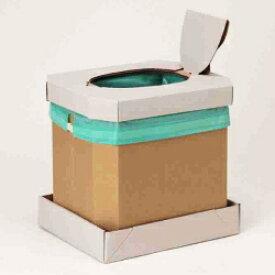 ミドリ安全 ダンボール組立トイレ エコトイレ[ベンリー袋付] 簡易トイレ