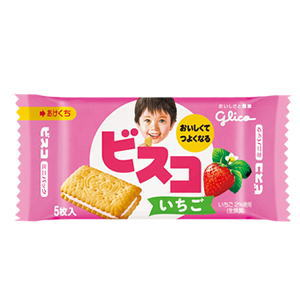 グリコ ビスコ いちご ミニパック 5枚入×20個[ボール販売]