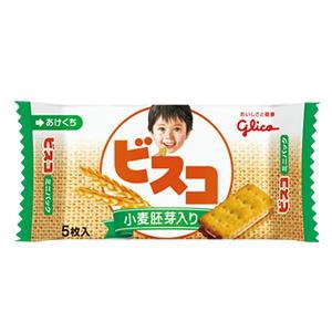 グリコ ビスコ 小麦胚芽入り ミニパック 5枚入×20個[ボール販売]