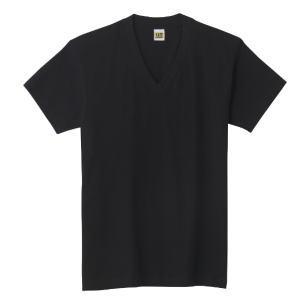 グンゼ GTホーキンス VネックTシャツ 2枚組 HK10152 クロ L
